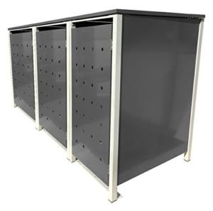 Mülltonnenbox Alu Aluminium leicht und stabil