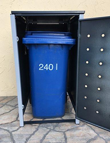 BBT@ | Hochwertige Mülltonnenbox für 3 Tonnen je 240 Liter