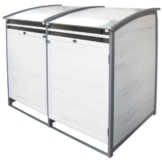 Habau 3140 Mülltonnenbox 120 Liter Doppel