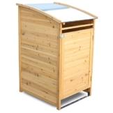 Habau Mülltonnenverkleidung Mülltonnenbox 120, Gelb, 65 x 75 x 115 cm