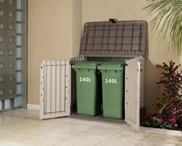 Mülltonnenboxen für zwei Tonnen Mülltonnenbox 2 Tonnen