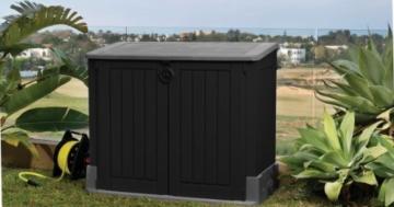 Mülltonnenbox in Anthrazit - der beliebte Grauton