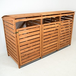 Mülltonnenbox Holz 3Mülltonnen 240l Mülltonnenhaus