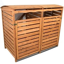 Mülltonnenverkleidung Holz Mülltonnenbox für 2 Mülltonnen 240l