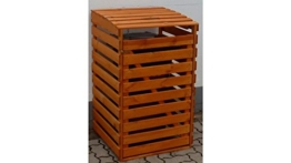 PROMADINO Mülltonnenbox, für 1x120 l aus Holz braun