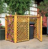 PROMEX Mülltonnenbox für 2 Tonnen