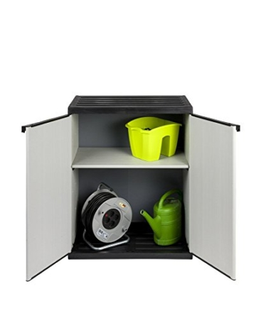 Verschließbarer Mülltrenner mit spritzwassergeschützter Deckel- & Bodenplatte